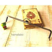 【HA-1620】持ち手付きの押し口金25.5cm/角型(ブラック)-扇子入れ用-