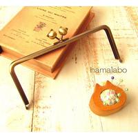 【HA-1751】18cm/角型(ネコ玉×アンティークゴールド)