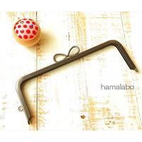 10月19日販売開始!特価品【HA-1949】24cm角型口金(新リボン×ソフトブラック)+(プラス)