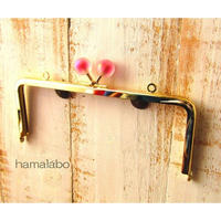 【HA-1637】18cm/角型(スモーク玉レッド×ゴールド)・カン付き