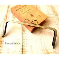 2月28日販売開始!【HA-1793】24cm角型口金(新リボン×アンティークゴールド)+(プラス)