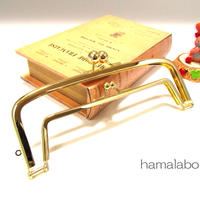 【HA-342】<廉価版>親子口金 19cm(アメ玉×ゴールド)