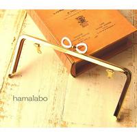 9月29日販売開始!【HA-1674】リボン口金/18cm角型(ゴールド)・兼用カン付き