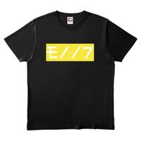 ワビサビのモノノフTシャツ ブラック 黄