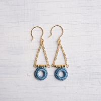 スウィングピアス (ライトブルー)/ Pierced Earring Swing (Lt.Blue)[SE162P34]