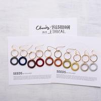 リングリングピアス&イヤリング(各5色) / Ring Ring Pierced Earring&Earring(5colors)