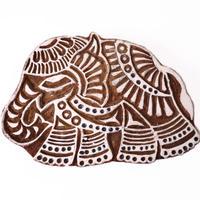 木版ブロック フック付き(象)   BL19-226