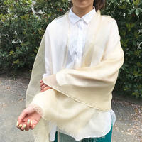 ラメライン入り ウールシルクストールM 通常価格¥11,000+税-Rashmi Handloom
