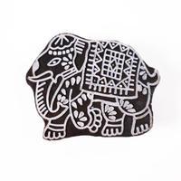 木版ブロック(象)   BL19-215