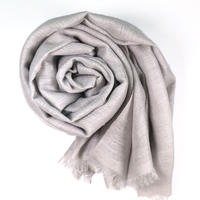 Kashmir Loom −Solid (単色)  色:Silver Gray (薄グレー)