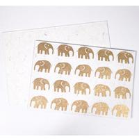 カードセット(象・White)   CA-19-006