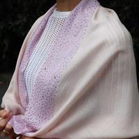 Plume Nova  (Sparkling border / Pink × Purple)  ウール50%/シルク50% SS-18/72BC
