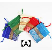 巾着袋(小)5枚セット  (size 横10㎝ × 縦10.5㎝) KB-19-001
