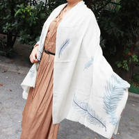 Plume Nova  (Feathers embroideries / White)  ウール50%/シルク50% SS-18/76A