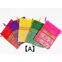 巾着袋(中)5枚セット  (size 横13㎝ × 縦15㎝) KB-19-002