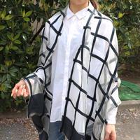 シルクチェックストール A(縁取りなし)通常価格¥15,000 +税-Rashmi Handloom