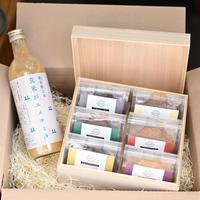 【お中元に!】島根県産MISOJYUの有機生みそ 木箱6つ&玄米甘酒セット
