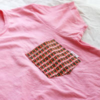 "【ladies-Msize】後染めAfrican pocketTshirt ""smallgrain"""
