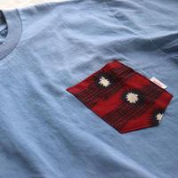 "【Unisex-Msize】後染めAfrican pocketTshirt ""JBred"""