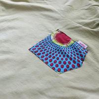 "【Unisex-Msize】後染めAfrican pocketTshirt ""circle"""