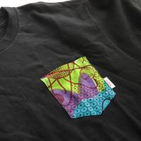 "【men's-Lsize】African pocketTshirt ""psychedelic"""