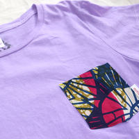 "【ladies-Msize】後染めAfrican pocketTshirt ""yukata"""