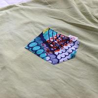 "【men's-Lsize】後染めAfrican pocketTshirt ""screw"""