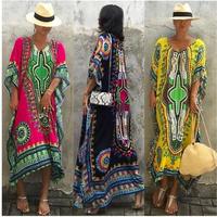 【予約商品】Ethnic Print Kaftan Maxi Dress