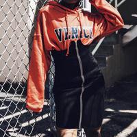 【予約商品】ハイウエスト ジップアップスカート