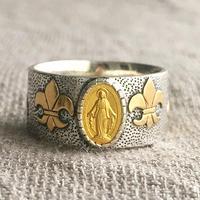 Maryゴールドメダル&ブルーサファイア シルバー&18Kゴールドリング CLASSIC(RMD1017)