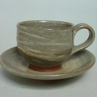 刷毛目コーヒーカップ