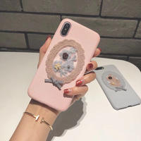 【S038】かわいい刺繡 スマホケース★ iPhone 6 / 6s / 6Plus / 6sPlus / 7 / 7Plus / 8 / 8Plus / X/XS ★