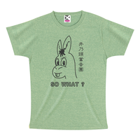 """SO WHAT?"" Tシャツ 【ミックスグリーン×ダークグレー】"