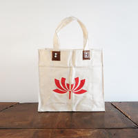 no359A   帆布カバン 赤い花