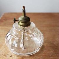 no183  ガラスのオイルランプ