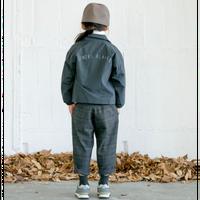 check warm pants (charcoal/125.140) / MOUN TEN.