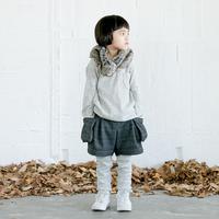check warm shorts (charcoal/125.140) / MOUN TEN.