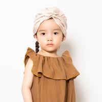 Face Print Turban ( beige  / M kids free ) / folkmade