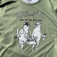 グラとベルの乾きやすいTシャツ ユニセックス