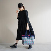 【新作】basic tote summer tweed navy blue