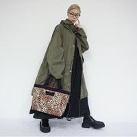 basic tote intoxic. original textile  leopard