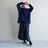 【予約終了】thomas magpie long skirt dots