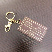 key chain genuine leather coffee