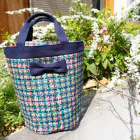 mini penelophia summer tweed navy blue