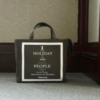 【受付終了】HOLIDAY RECORD BOX TOTE  khaki