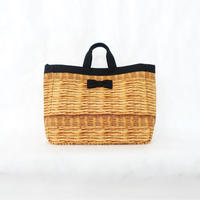 adjust strap tote fake basket black