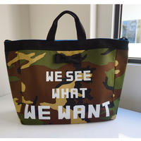 【再入荷】adjust strap tote camouflage logotip