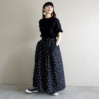 【再先行予約】thomas magpie dots skirt black(2202616)