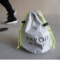 drawstring bag silver grey