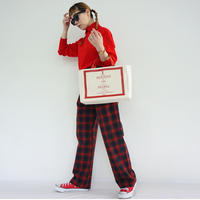 HOLIDAY DAILY TOTE red